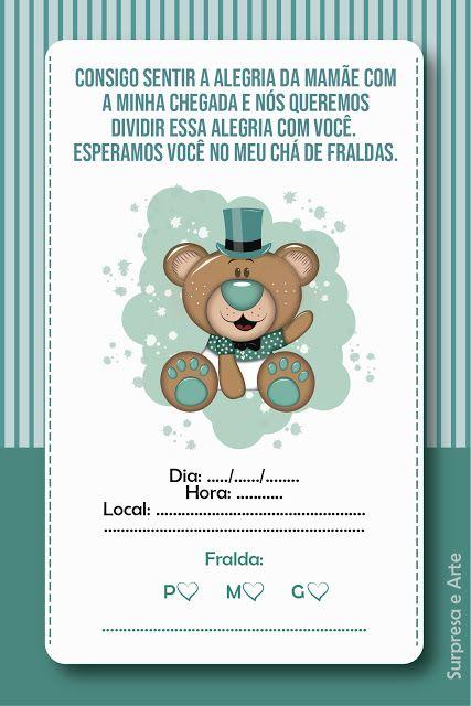 Convite Cha De Fraldas Gratuito Para Baixar E Imprimir Em Casa