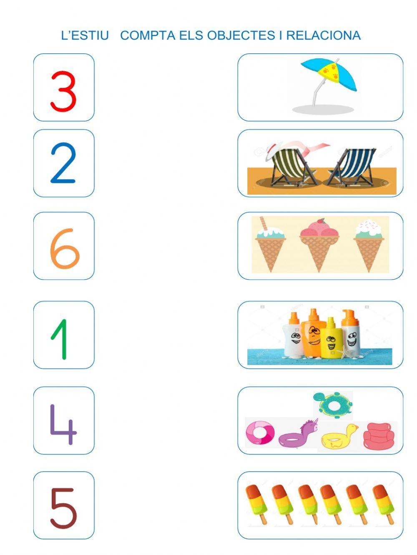 Números del1 al 6 ficha interactiva y descargable. Puedes ...
