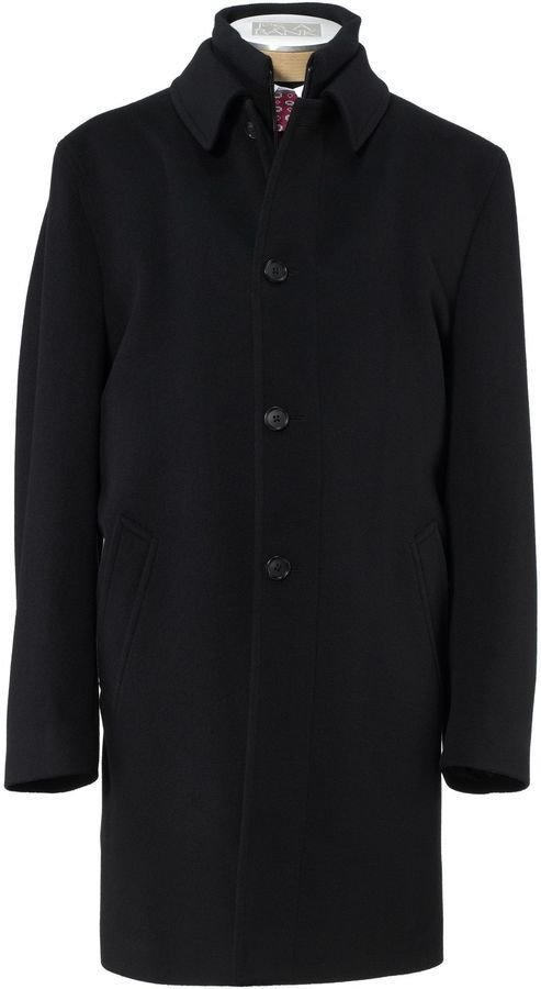 $695, Double Collar Imperial Blend 34 Length Topcoat by Jos. A. Bank. Sold by Jos. A. Bank. Click for more info: http://lookastic.com/men/shop_items/168830/redirect