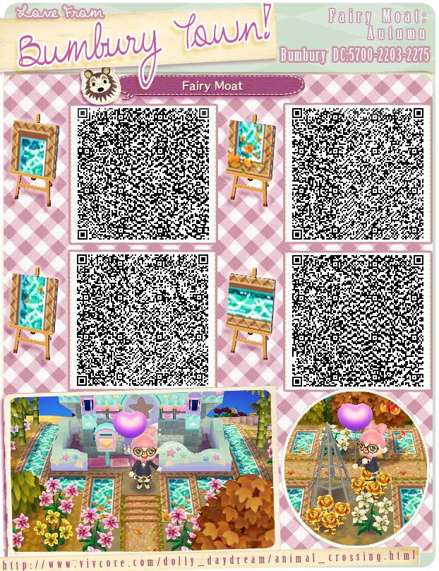 Water normal animal crossing new leaf qr codes paths for Acnl boden qr codes