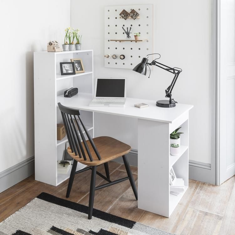 White Computer Desk With Drawers White Computer Desk Desk Shelves Computer Desk With Shelves