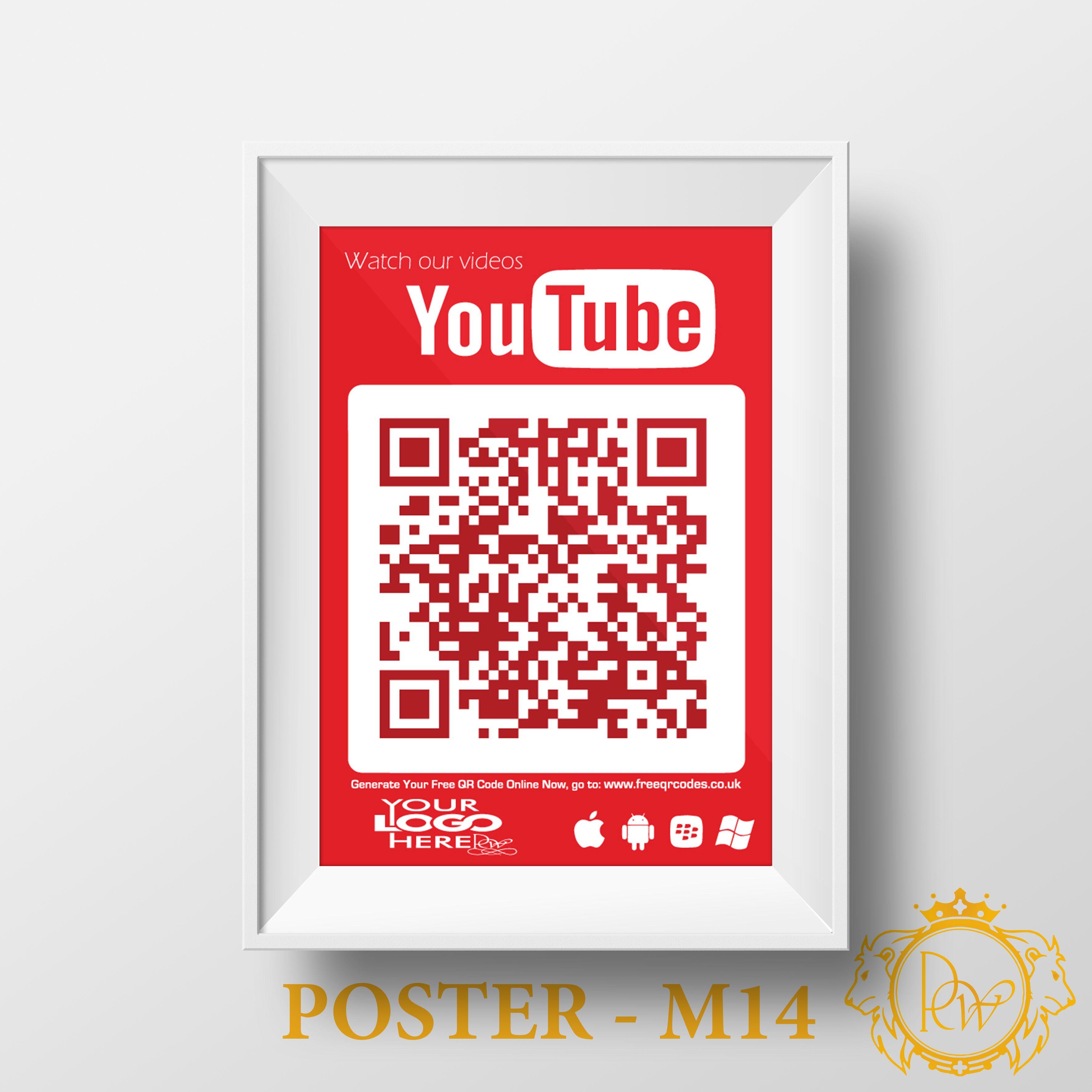 Social Qr Code Poster M14 Social Media Qr Code Drive Poster