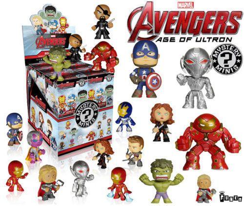 Instock Funko Mystery Mini Marvel Avengers Age Of Ultron Case 12 Vinyl Blind Box Funko Mystery Minis Mystery Minis Avengers Age