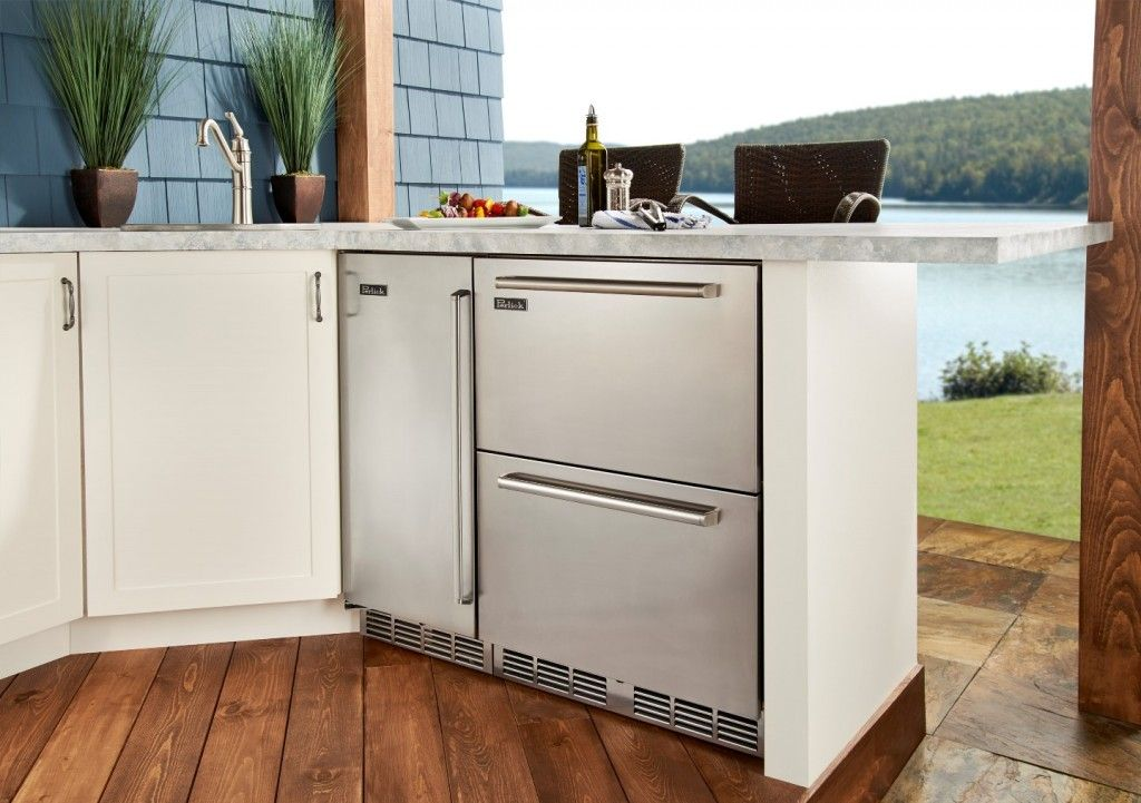 Perlick Signature Series 24 Dual Zone Refrigerator Freezer Drawers The First Undercounter Outdoor Kitchen Outdoor Kitchen Appliances Outdoor Kitchen Design