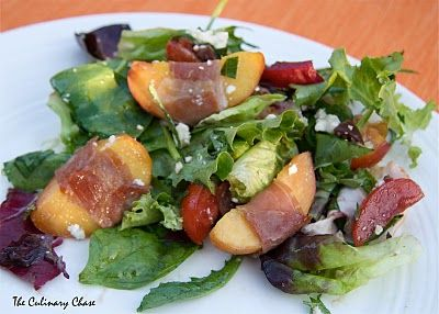 prosciutto wrapped peach salad
