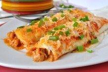 crawfish enchiladas!
