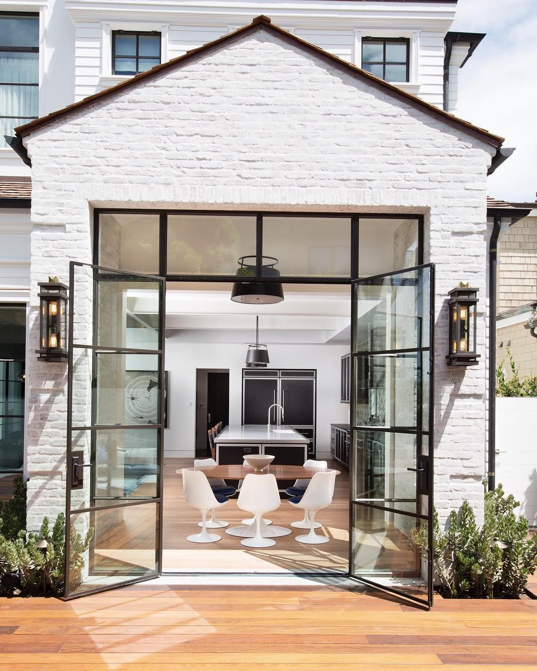 The Most Beautiful French Doors We Ever Did See Builder Pattersoncustomhomes L White Exterior Houses Modern Farmhouse Exterior House Designs Exterior