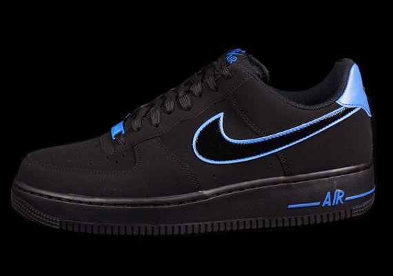 Nike Air Force 1 Low Black Photo Blue Sneakernews Com Black Nike Shoes Nike Air Nike