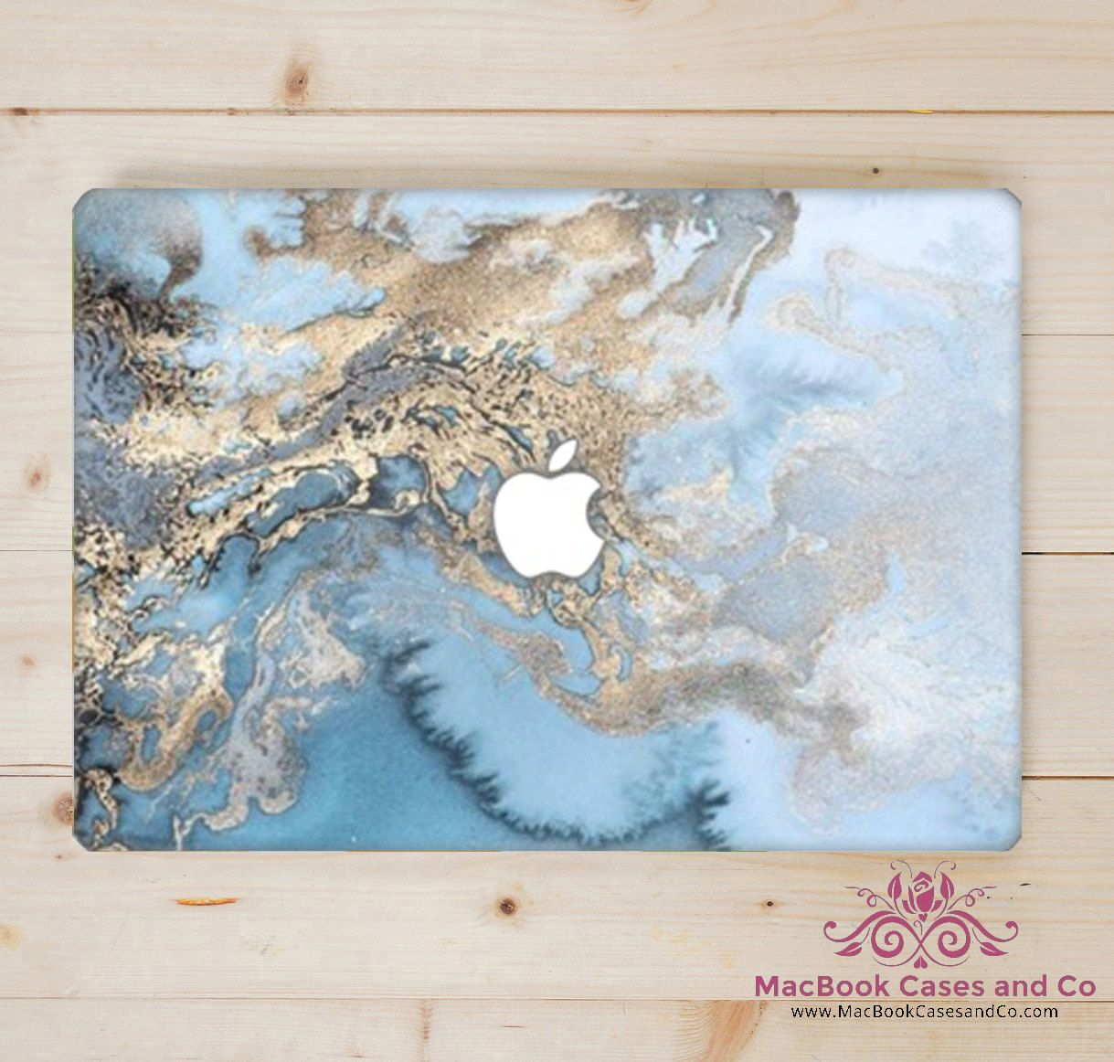 big sale cc7cf 85ac7 Sea Blue Marble MacBook Case, Hard Plastic Top and Clear bottom ...
