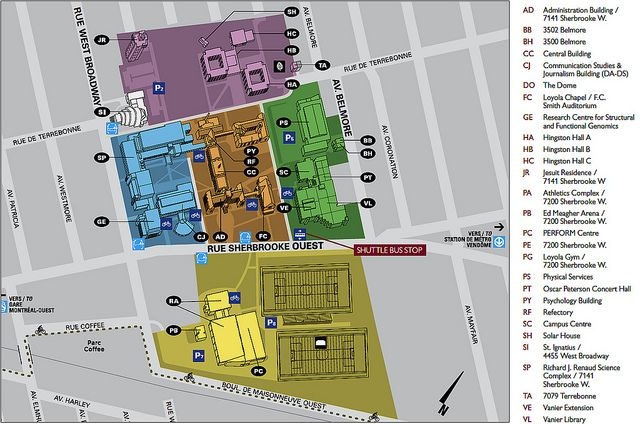 concordia university campus map The Loyola Campus In The Residential West End District Of Notre concordia university campus map
