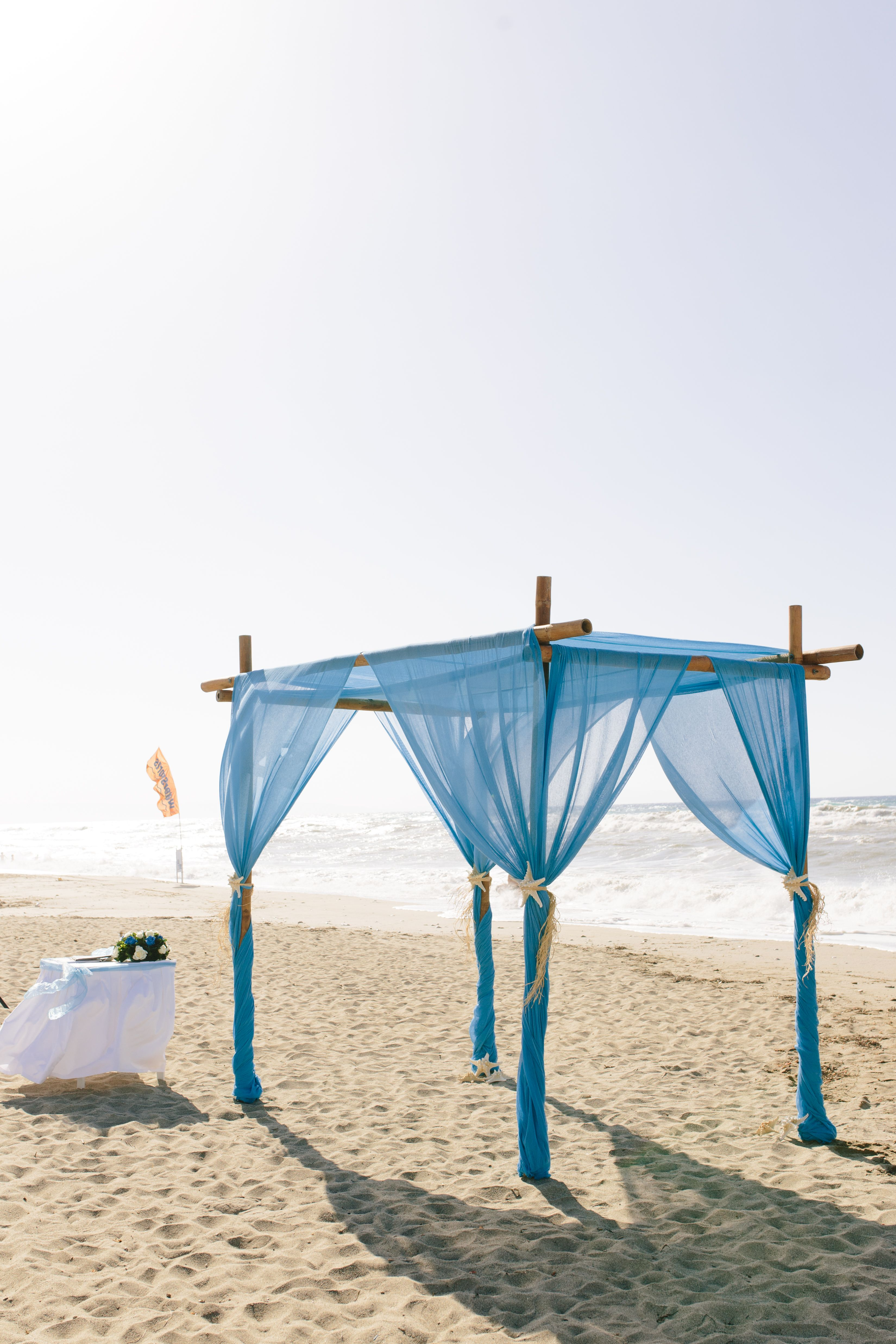 Canopy Arch Blue Drapes Curtains Fabric Sea Seashell Shell