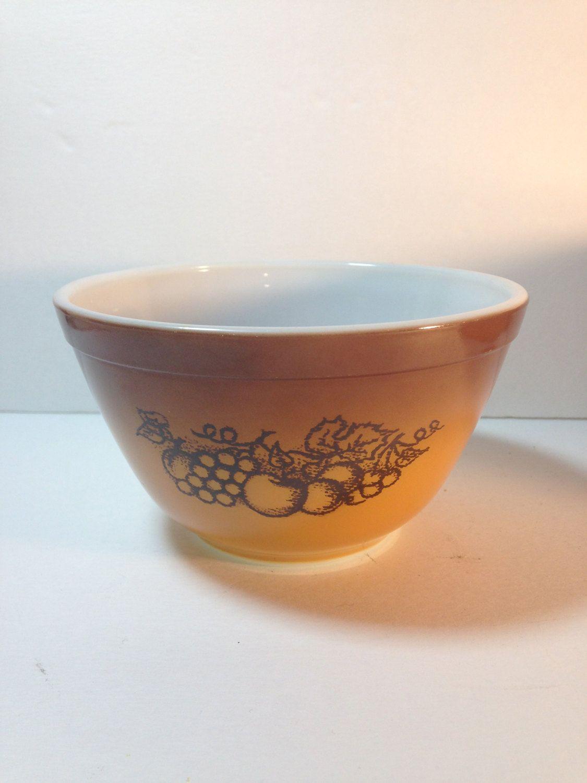 Vintage Pyrex 1.5 Pint OLD ORCHARD small Mixing Bowl, No. 401 ...