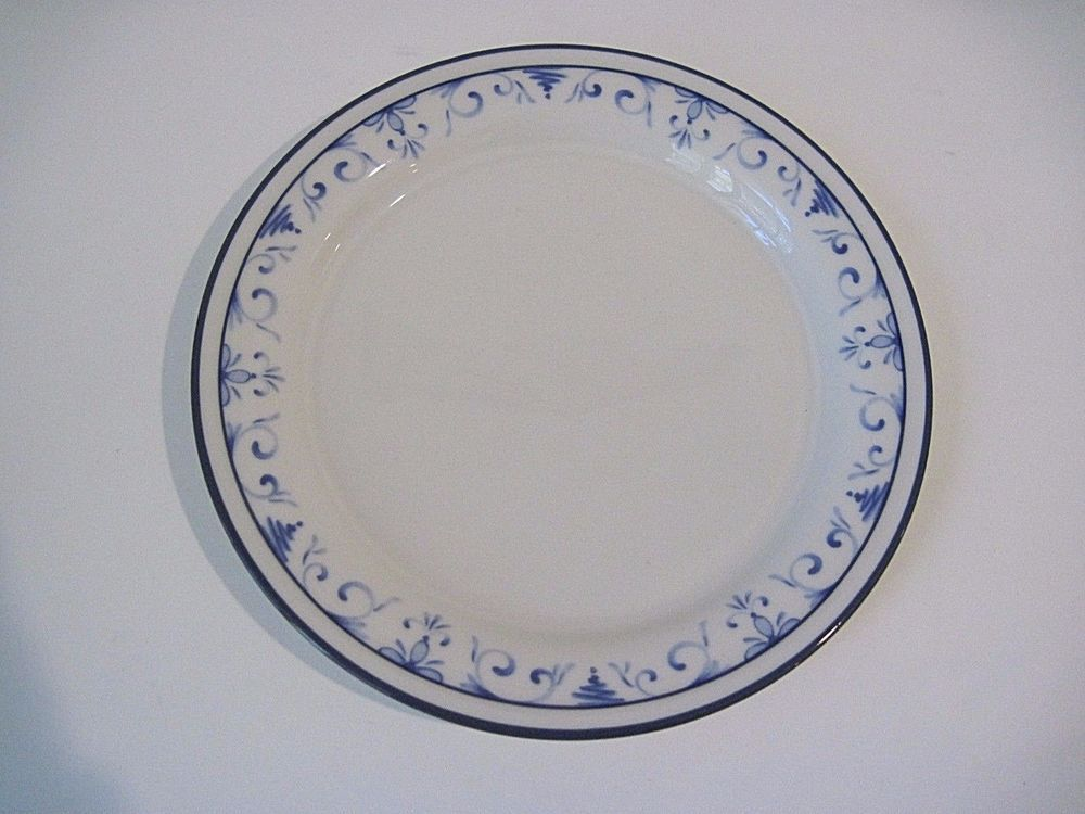 Lenox Chinastone Country Blue Pattern Salad Plates 8-1/2  Diameter & Lenox Chinastone Country Blue Pattern Salad Plates 8-1/2