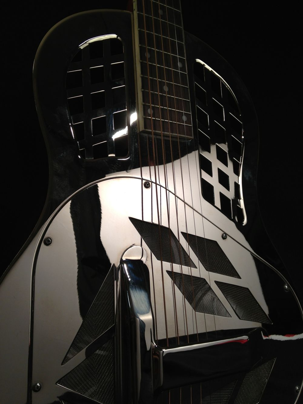 Classic Polished Nickel Tricone Guitar, Resonator guitar