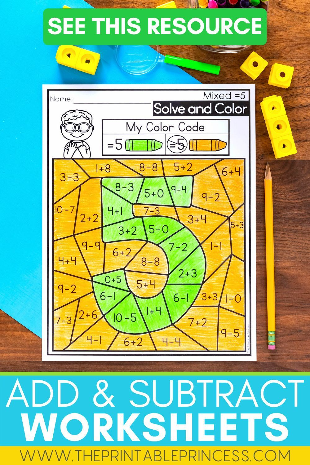 Missing Digits In Addition And Subtraction Problems Kindergarten Math Worksheets Addition Addition And Subtraction Math Addition Worksheets