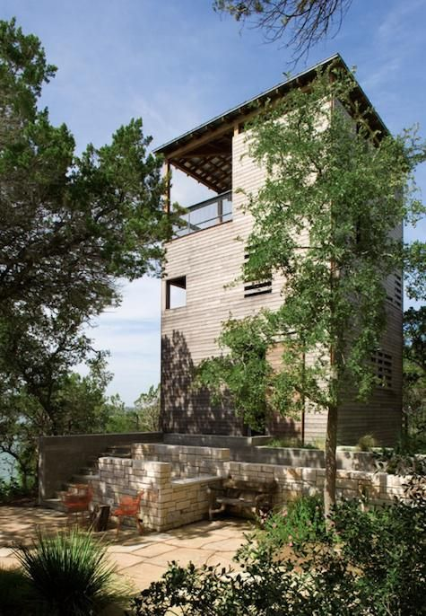 Architect Visit Andersson Wise Architects In Texas Exterior - Tower-house-in-texas-by-andersson-wise-architects