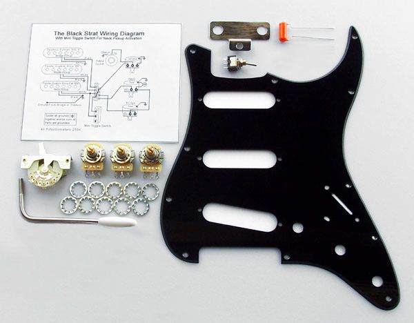 4031  Custom Manufactured Gilmour Style Black Strat Basic