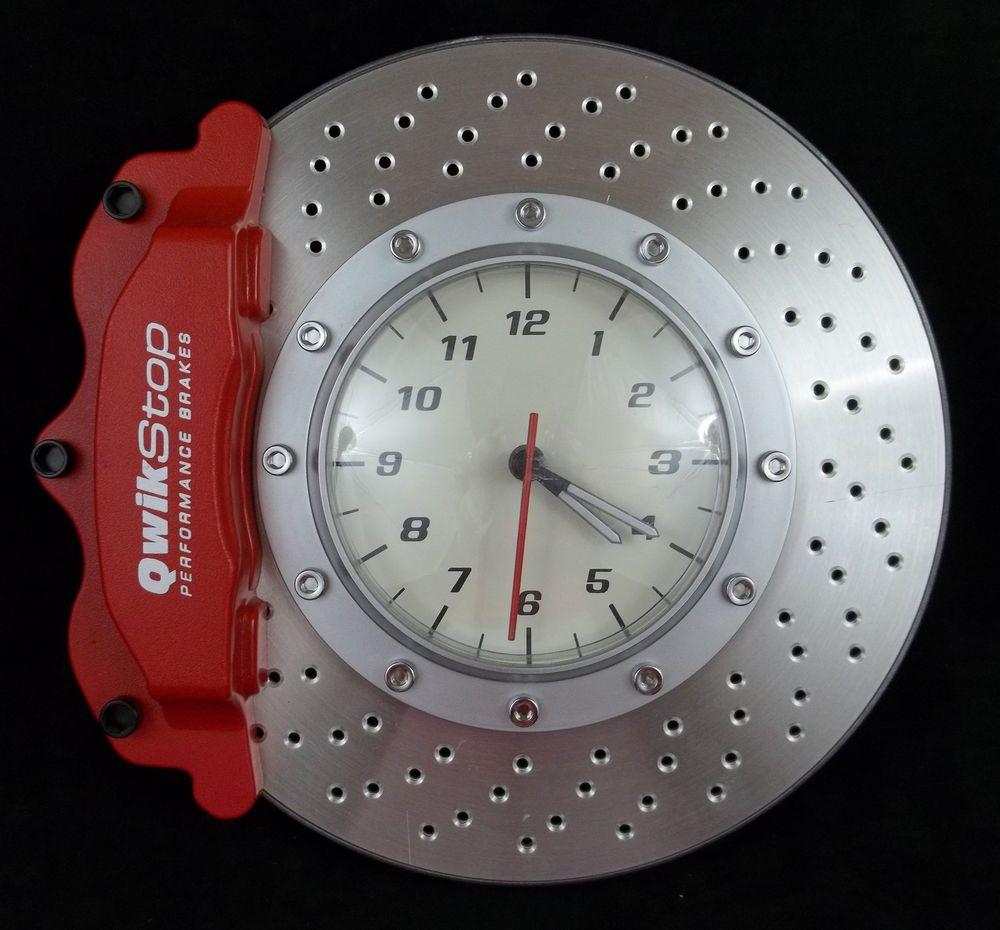 Cool Man Cave Garage Shop Brake Rotor Caliper Wall Clock