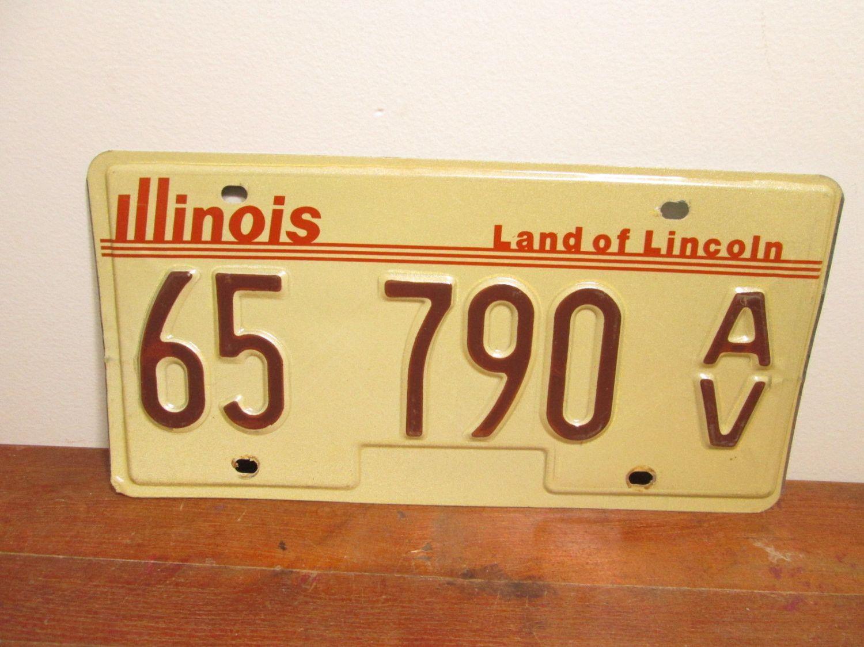 Antique Vehicle Illinois License Plate 65 790 AV & Antique Vehicle Illinois License Plate 65 790 AV | License plates ...