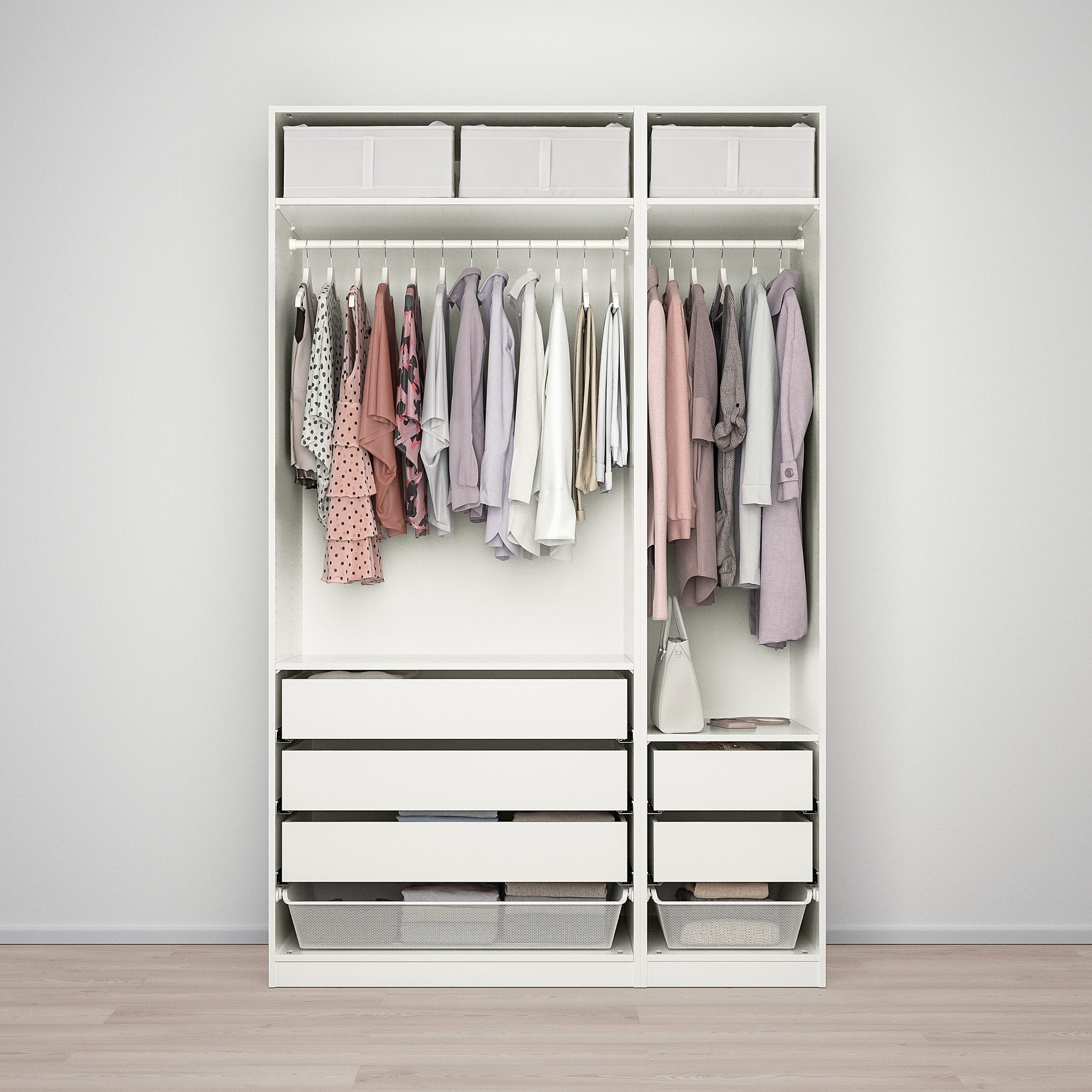 PAX Wardrobe white, Fardal highgloss/white 59x23 5/8x93