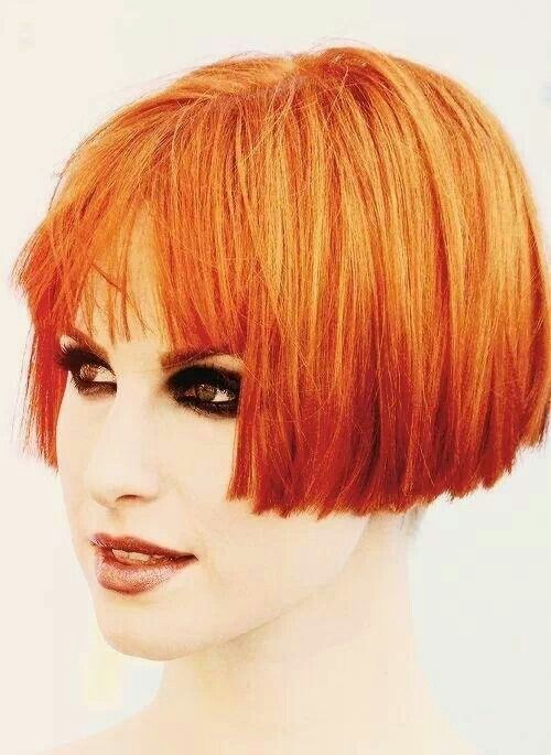 Hayley Williams...wish I could pull off hair this color