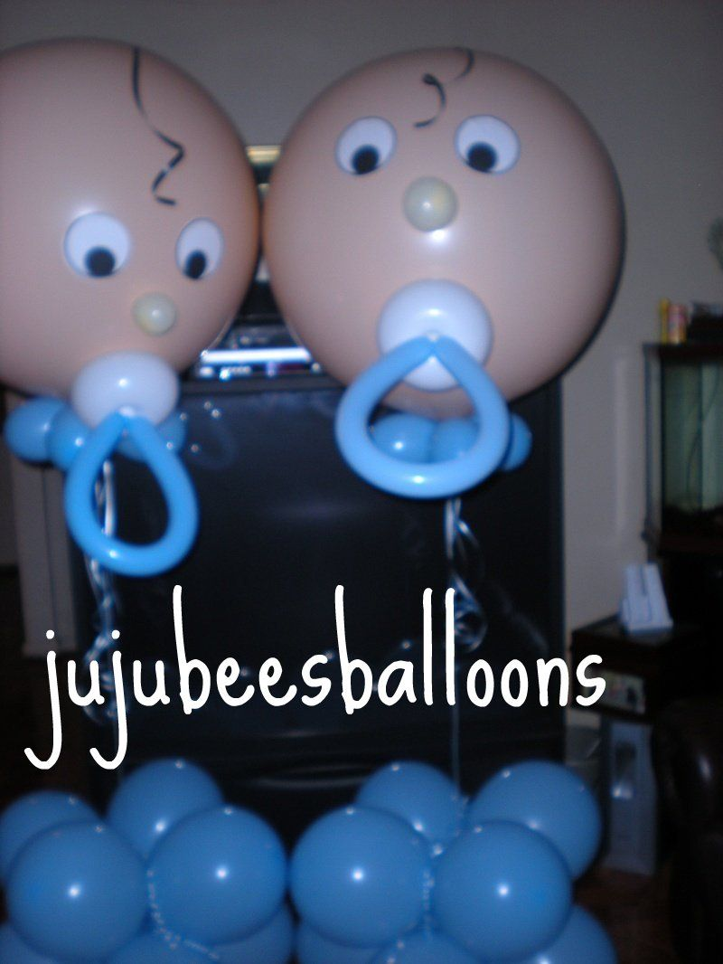 Baby Shower Decorations For Boy Balloon Sculpture | Balloon Portfolio    Juju Beeu0027s Balloon Decorating