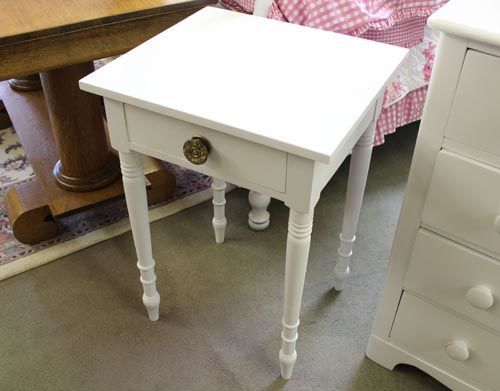 Hanover Furniture Consignment   2830 661 White Nightstand W/ Drawer. Could  Replace Knob