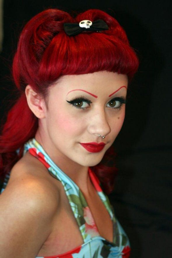 1950 Pin Up Hairstyles | love the brows!