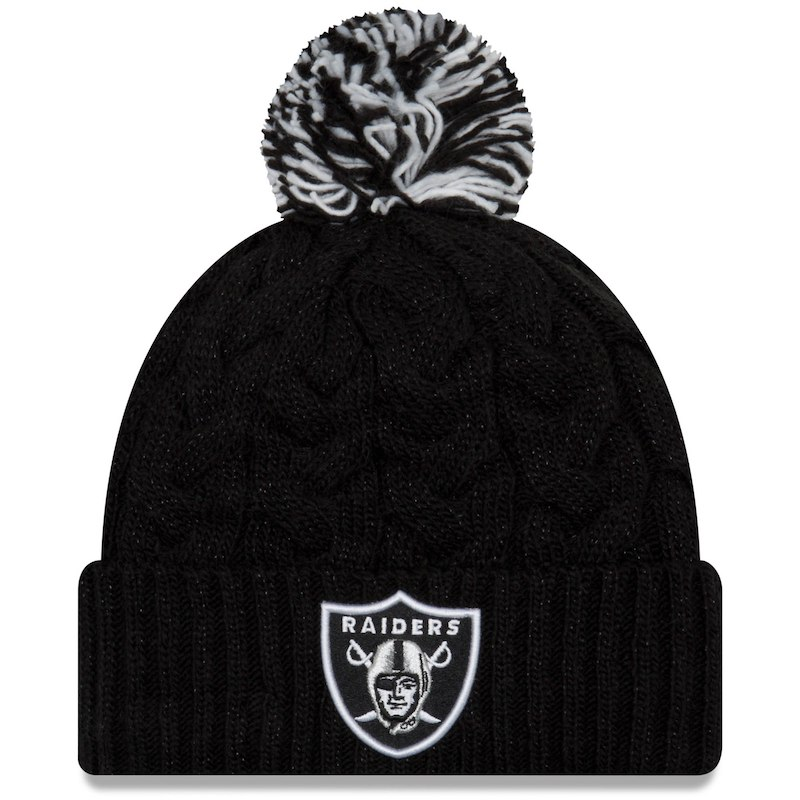 73ccddb453c550 Oakland Raiders New Era Women's Cozy Cable Cuffed Knit Hat – Black ...
