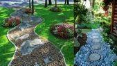 Photo of #gardendesignideaswithpebbles #steppingstonespathway #riverrockgardens #stepping…