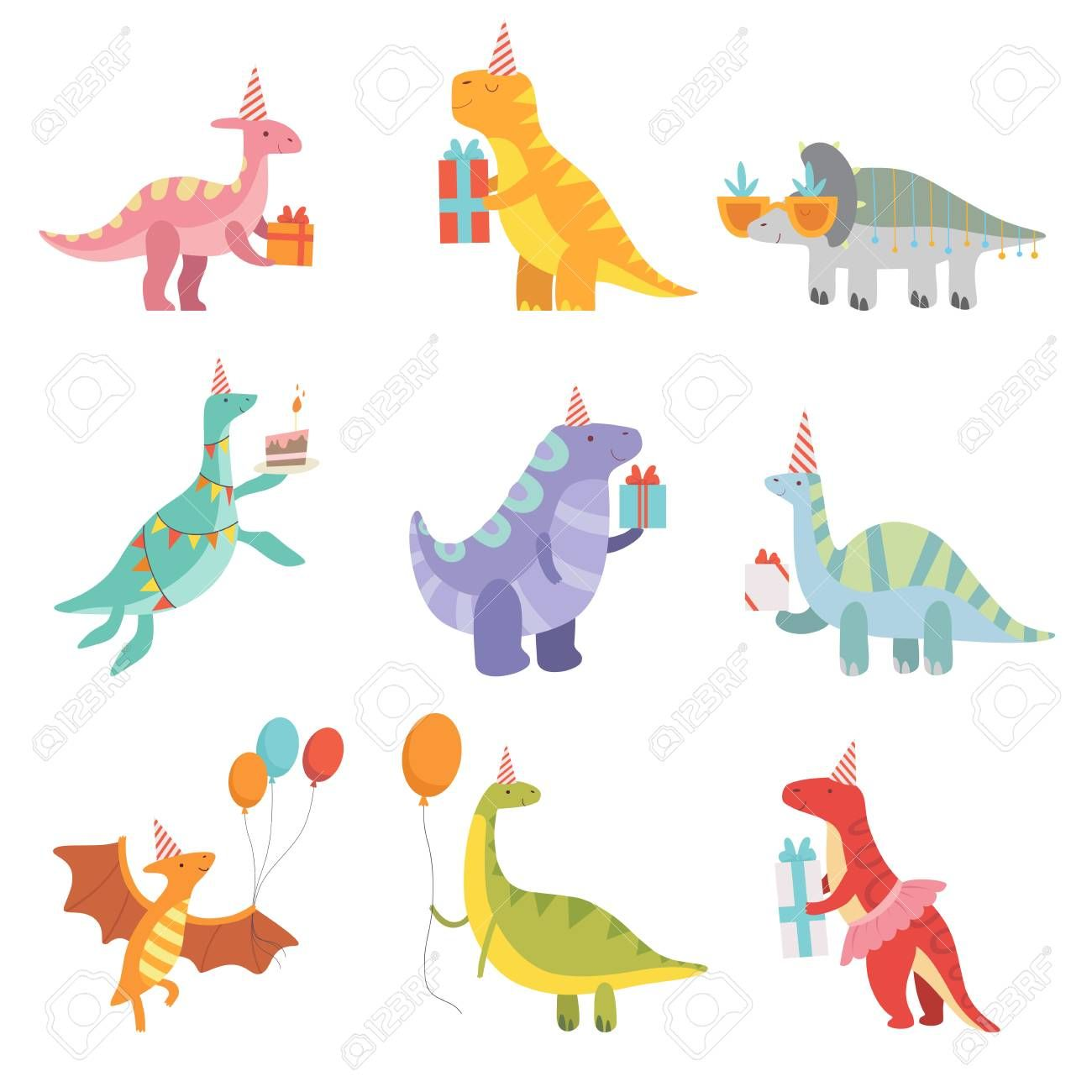 27+ Dinosaur with birthday hat clipart ideas in 2021
