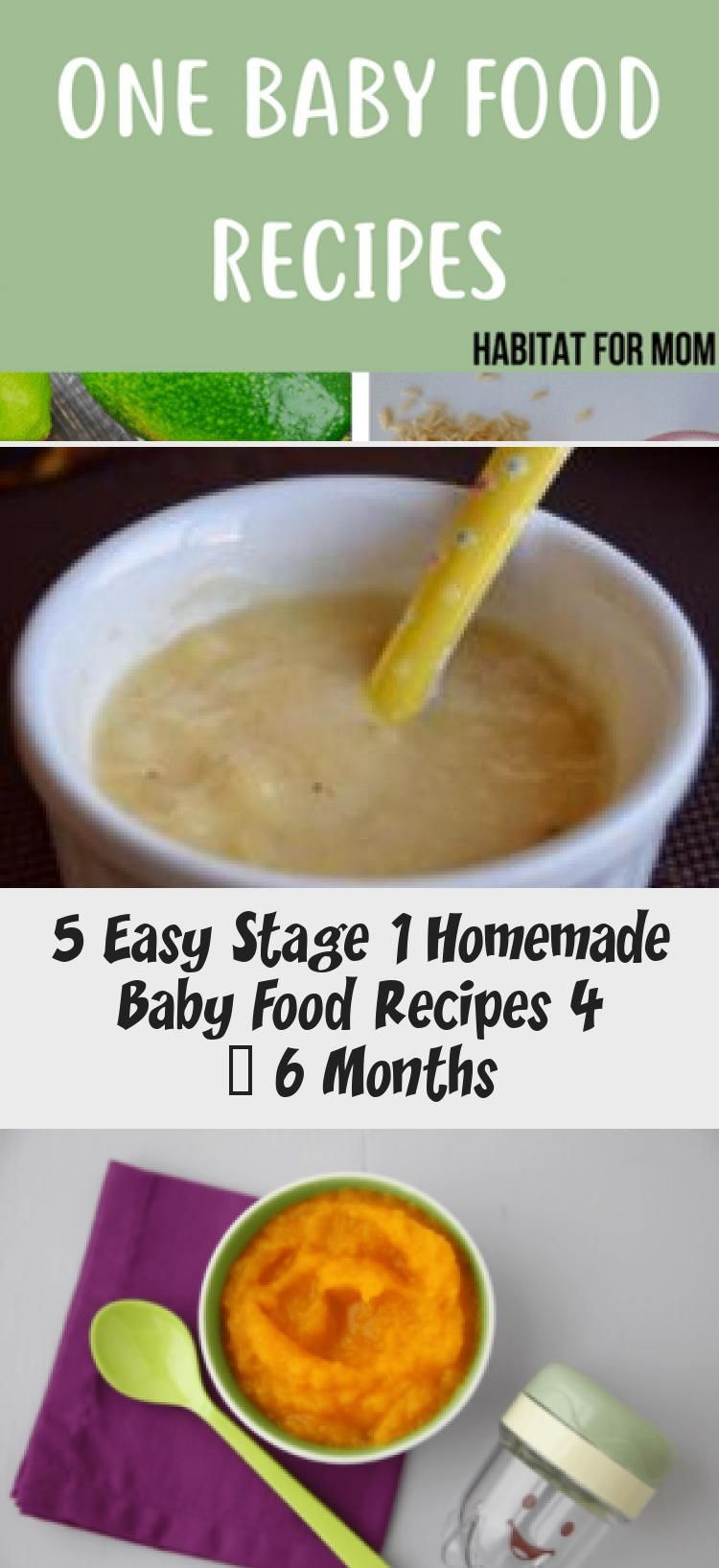 5 Easy Stage 1 Homemade Baby Food Recipes 4 - 6 Months in ...