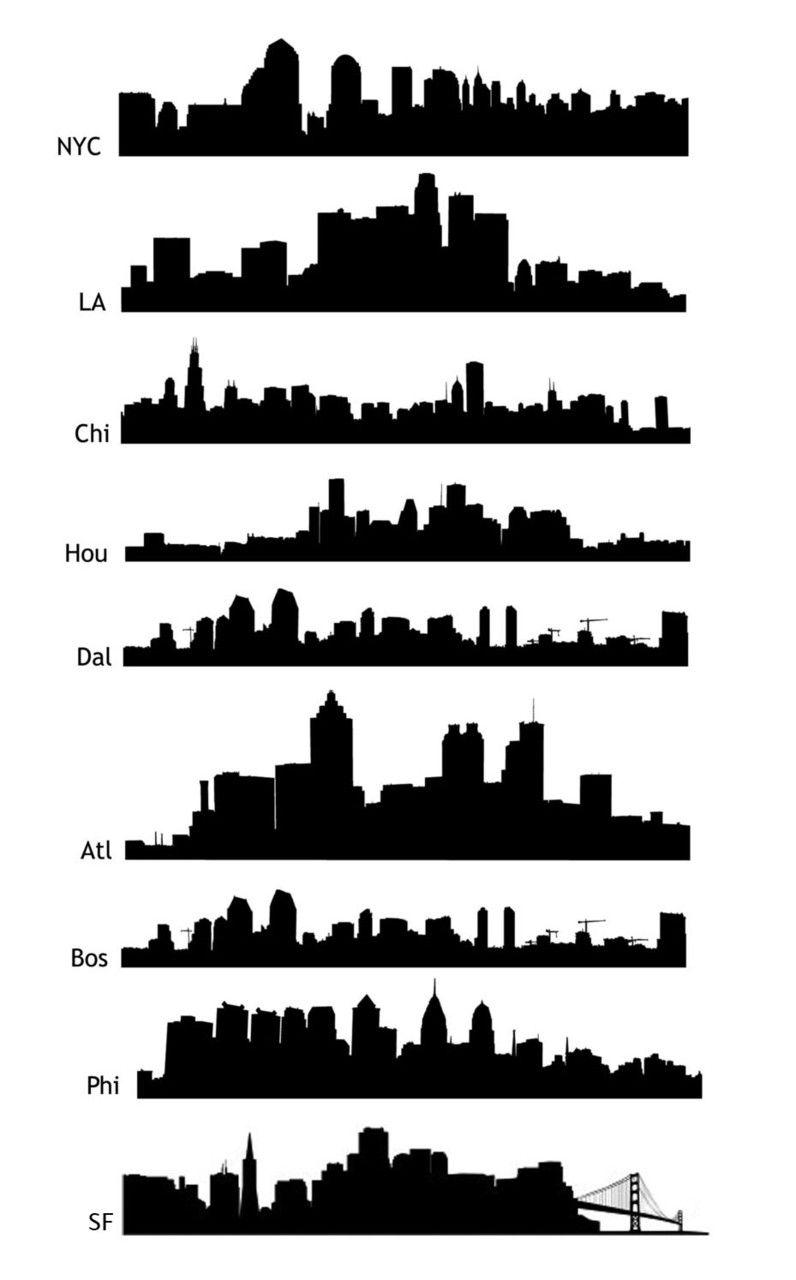 Silhouettes De Villes Silhouettes De Villes Ville Dessin Pochoir