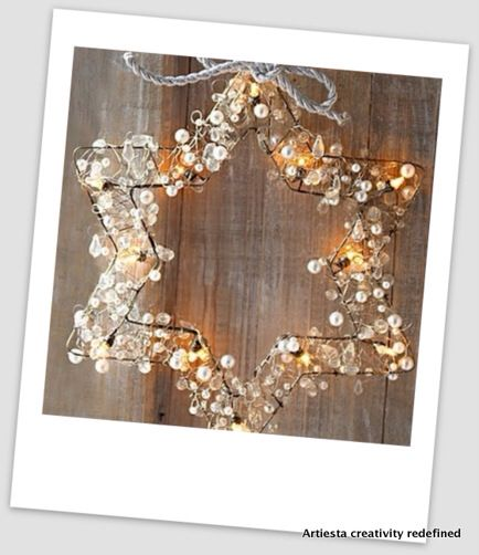 Beads wired star wreath  Just for ₹799/-