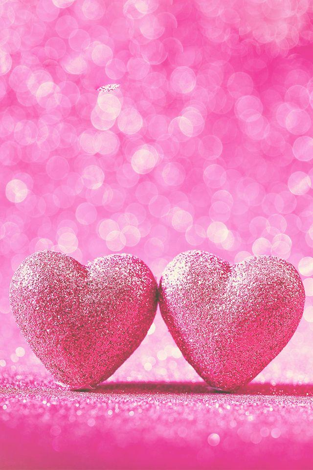 Two Hearts Wallpaper Heart Iphone Wallpaper Pink Wallpaper