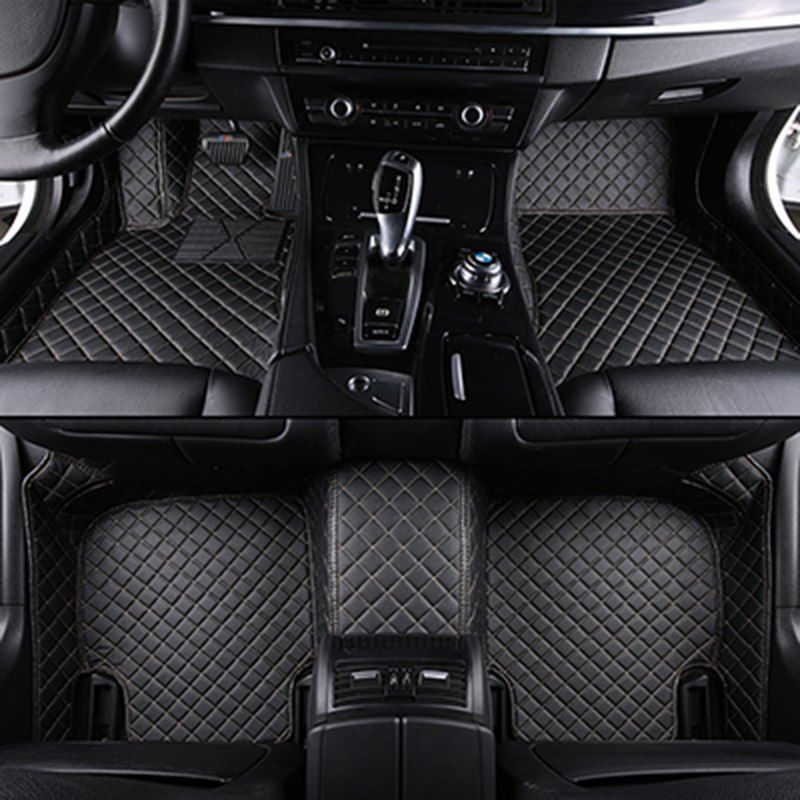 Kia Sorento 2015 On 7 Seat Ver Black Tailored Floor Car Mats Carpet //Rubber