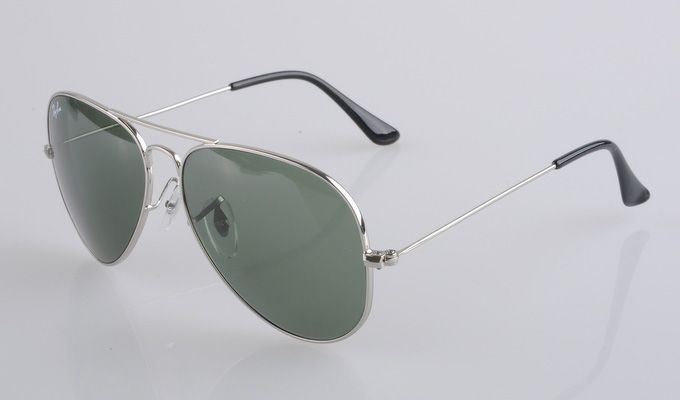 fe10886b837c7 Ray Ban Aviator 3025 Silver Frame Green Lens Ray Ban Glasses  3 ...
