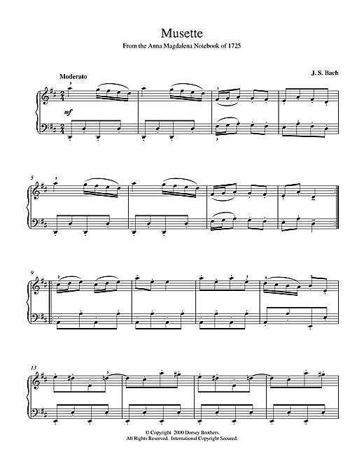 johann sebastian bach 'musette in d major, bwv app. 126' sheet music and  printable pdf music notes in 2021 | sheet music, sheet music notes,  sebastian bach  pinterest