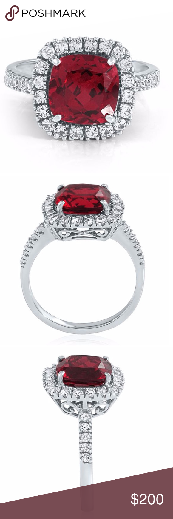 Label Helzberg Diamonds Ruby White Sapphire Ring White Sapphire Ring Helzberg Diamonds White Gold Ruby Ring