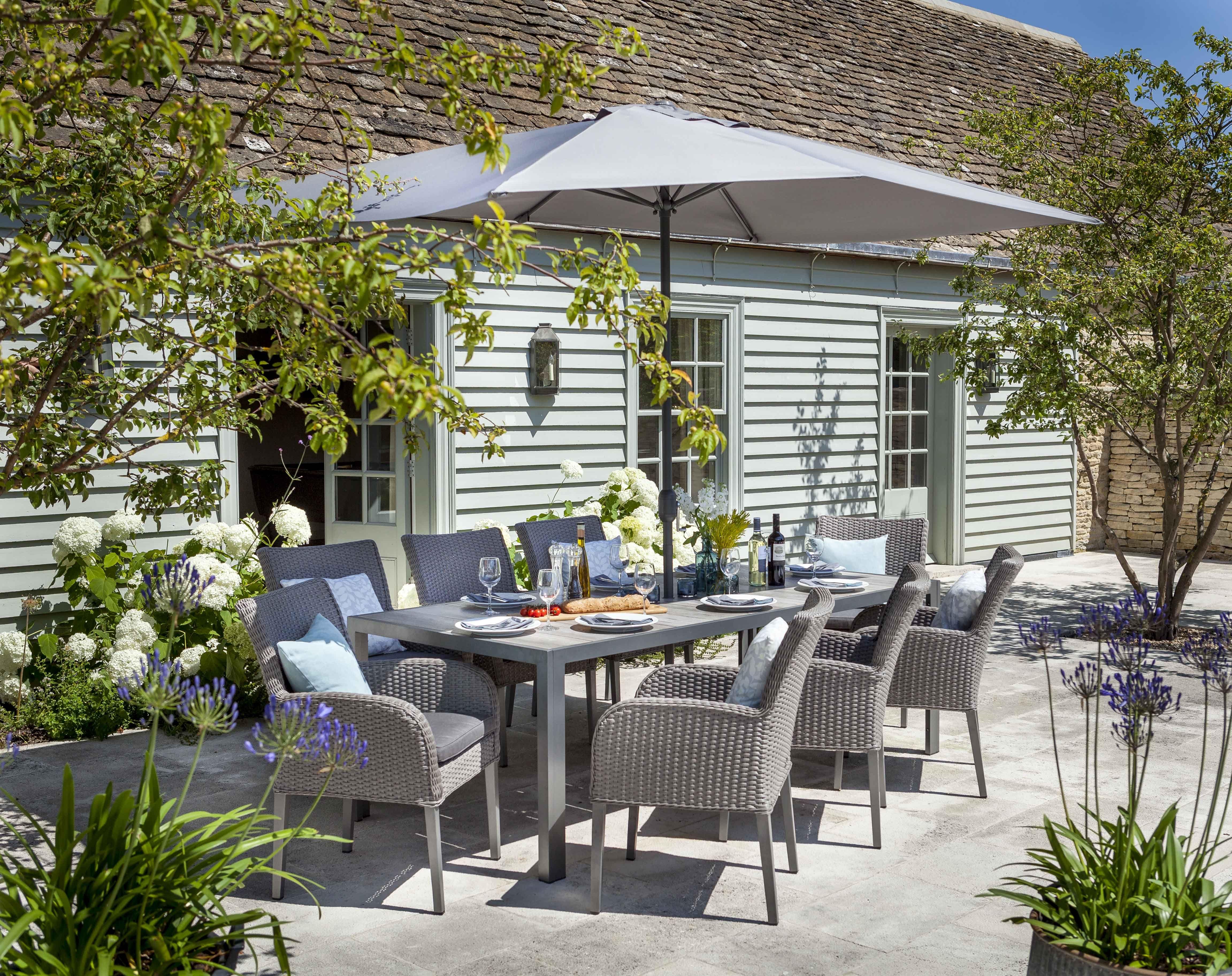 Atlanta 8 Seat Dining Set | Hartman Resin Weave Garden Furniture ...