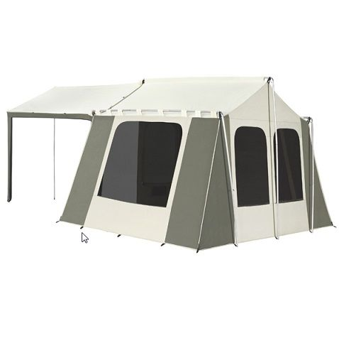 Kodiak Canvas Tent 6133 6 Person 9 X 12 Ft With Deluxe Awning Canopy Tent Canvas Tent Kodiak Canvas