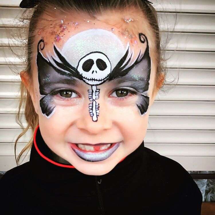 Jack skellington butterfly Halloween face painting Halloween - face painting halloween ideas