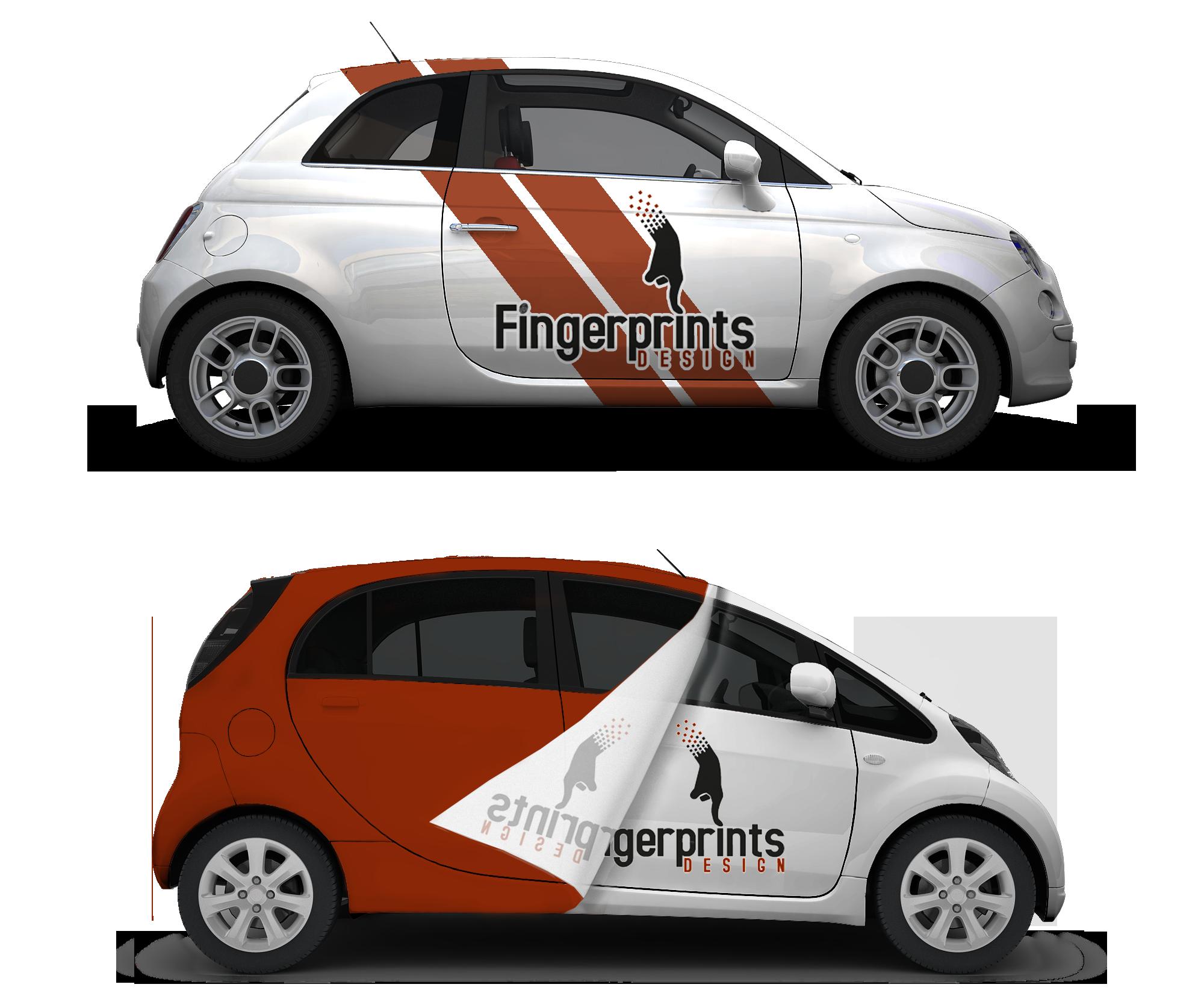Design car wrap - Fingerprints Design Vehicle Wrap