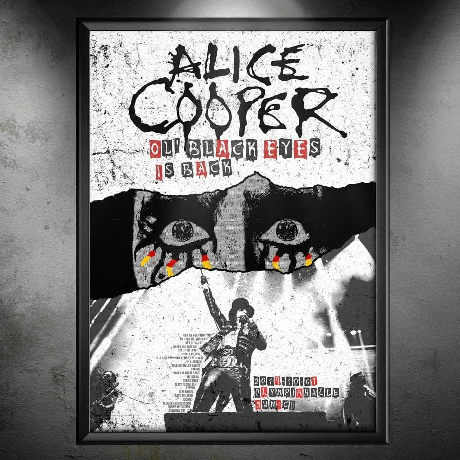 15 kitchen cleaning hacks Custom made ALICE COOPER Ol Black Eyes Is Back Tour concert postermore on