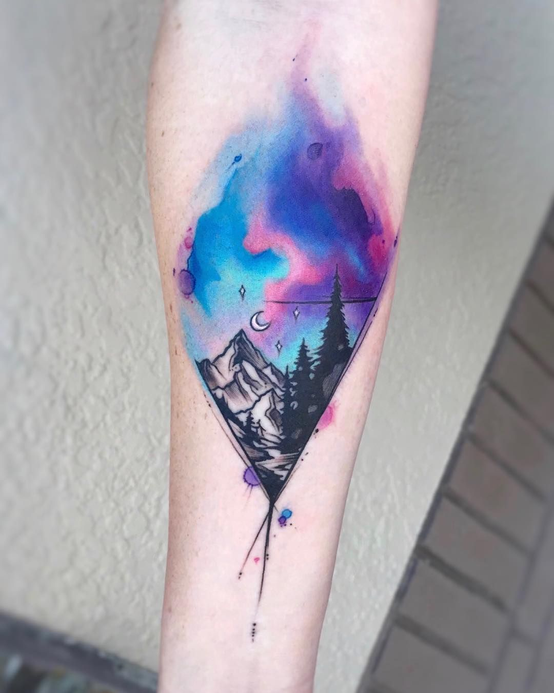 Long Animal Print Corduroy Dress Watercolor Rose Tattoos Watercolor Mountains Tattoo Sky Tattoos