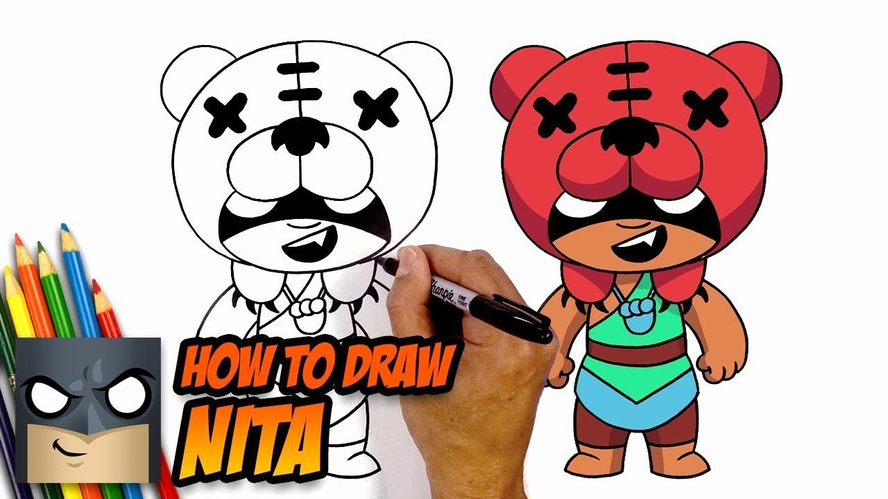 Niche Anime Drawing Book Unique How To Draw Brawl Stars Nita In 2020 Anime Drawing Books Easy Cartoon Drawings Anime Drawings