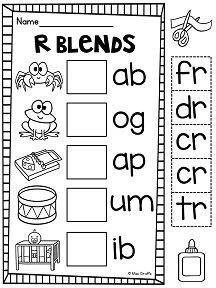 R Blends Worksheets and Activities No Prep Pack | Blends | Blends ...