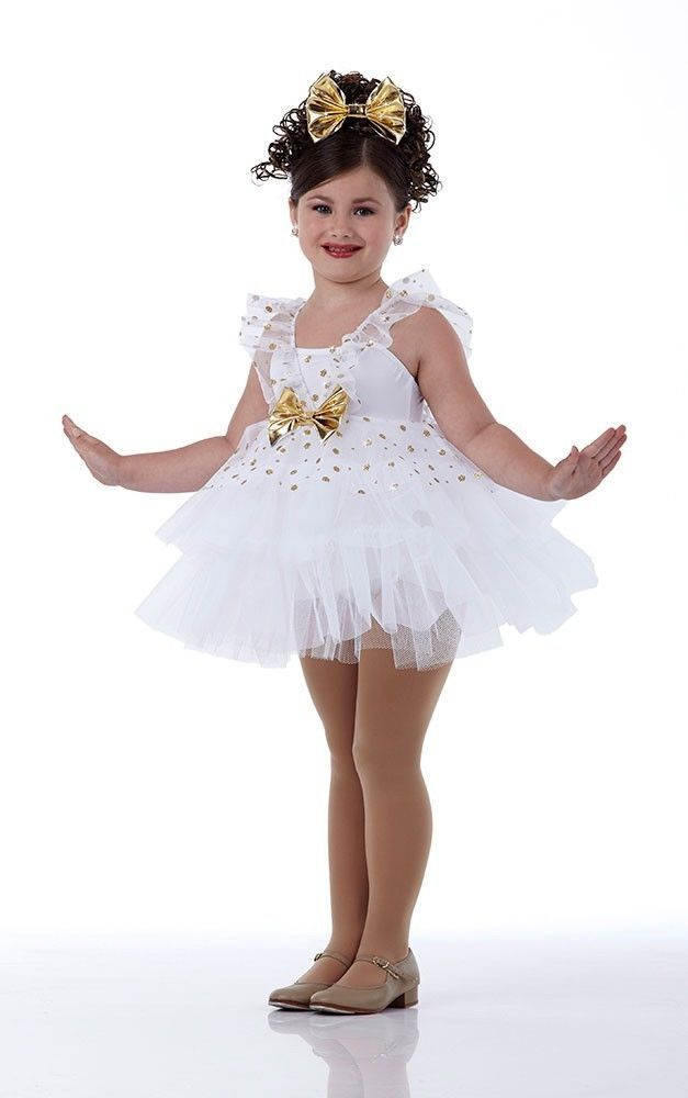 Gold Dust Ballet Tap Angel Ballerina Dress Christmas Dance