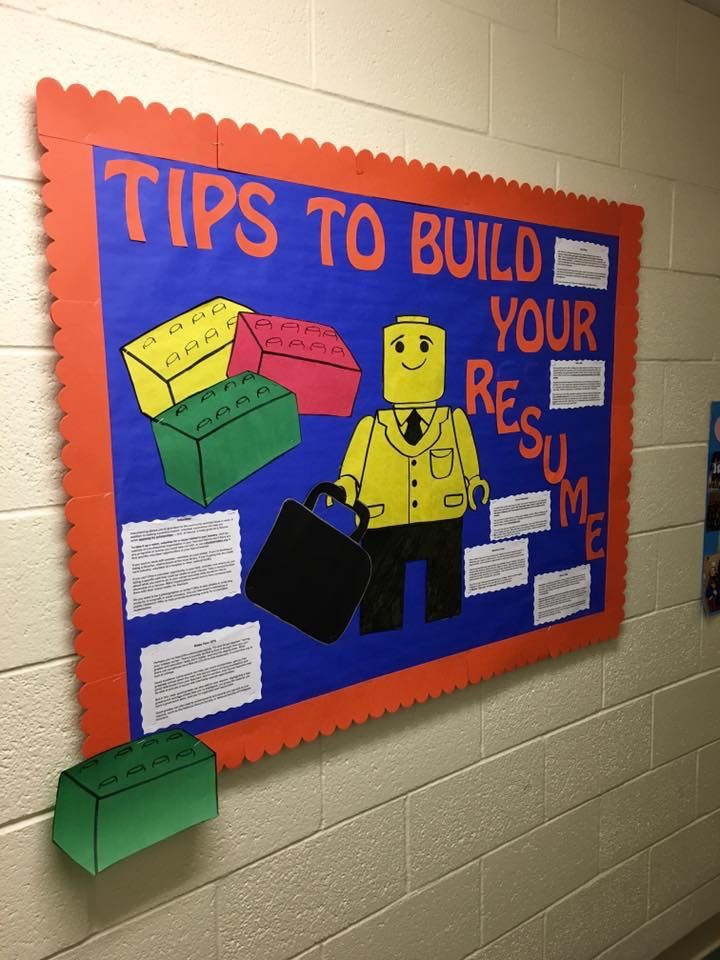 Suit Up For Success Bulletin Board About Creating A Resume