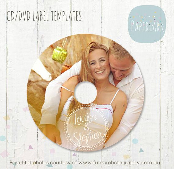 Cd Dvd Label Photoshop Template Es003 Instant Download Label